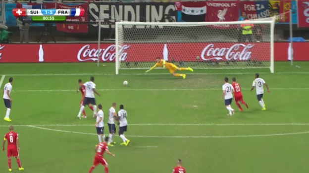 Video «Dzemailis Treffer gegen Frankreich» abspielen