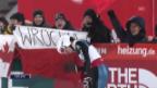 Video «Der 2. Sprung von Simon Ammann in Pyeongchang» abspielen