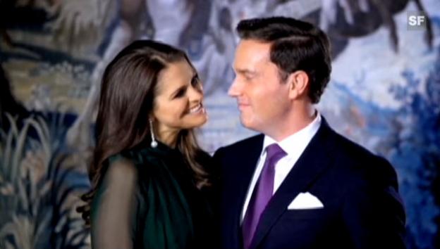 Video «Prinzessin Madeleine gibt per Video ihre Verlobung mit Chris O'Neill bekannt (Originalton)» abspielen