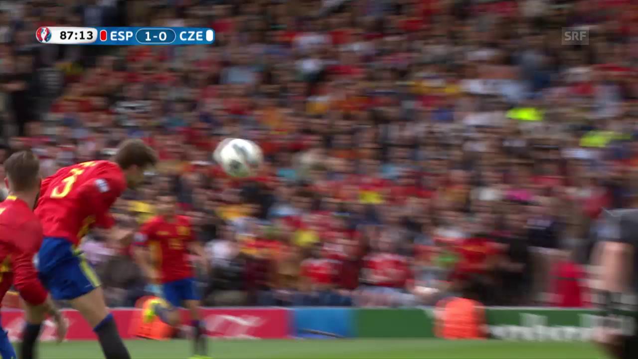 Piqué schiesst Spanien per Kopf zum Sieg