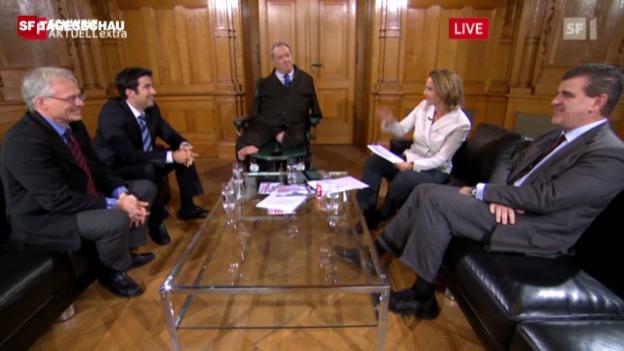 Video «Gesprächsrunde 3: Parlamentarier persönlich» abspielen