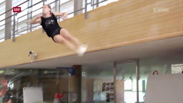 Video «Giulia Steingruber präsentiert ihren neuen Sprung» abspielen