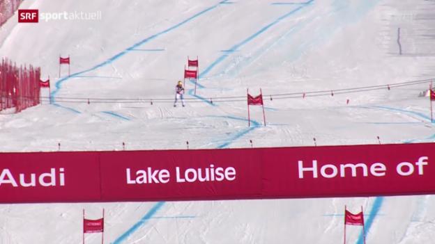 Video «Ski Alpin: 2. Abfahrtstraining der Frauen in Lake Louise» abspielen