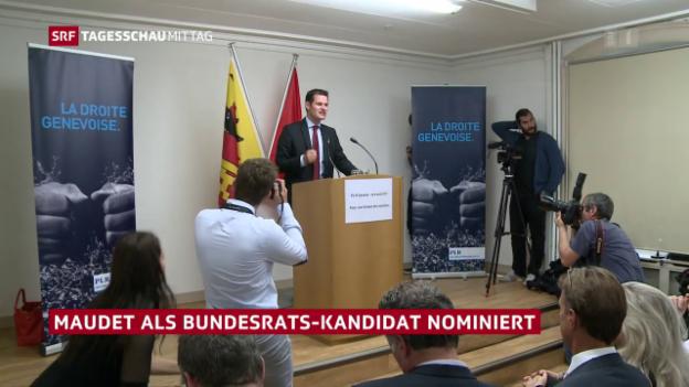 Video «Maudet als Bundesrats-Kandidat nominiert» abspielen