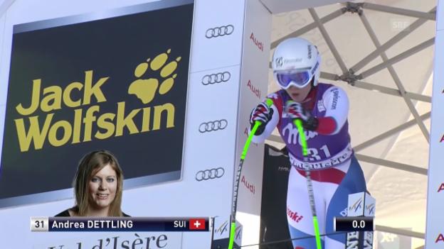 Video «Ski: Abfahrt Frauen Val d'Isère, Fahrt von Andrea Dettling» abspielen