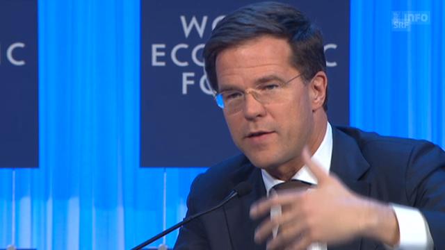 Rutte am WEF über Situation der EU