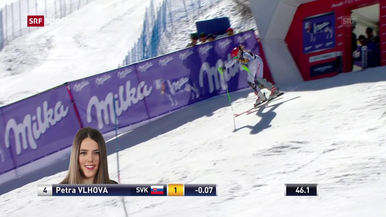 Die Siegesfahrt von Petra Vlhova