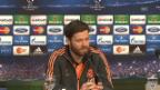 Video «Xabi Alonso und Carlo Ancelotti (Quelle: SNTV, spanisch)» abspielen