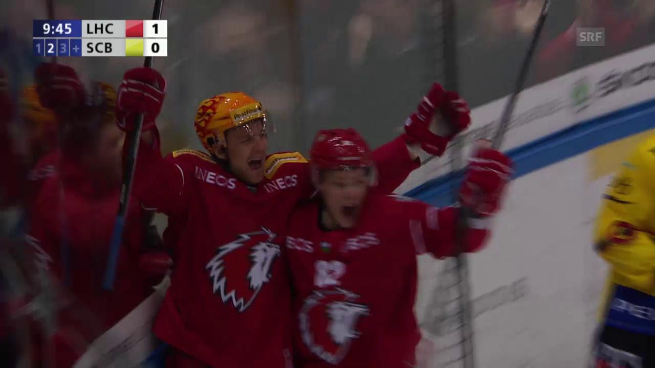 Eishockey: Playoff-Viertelfinal, Runde 2, Lausanne - Bern, Tore Mitteldrittel