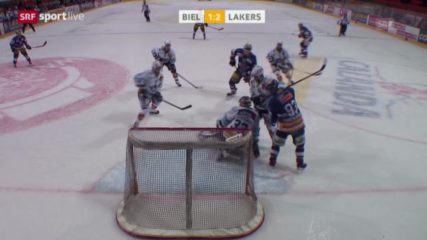 Video «Eishockey: Playout-Final, Biel - Rapperswil-Jona Lakers («sportlive», 25.03.2014)» abspielen