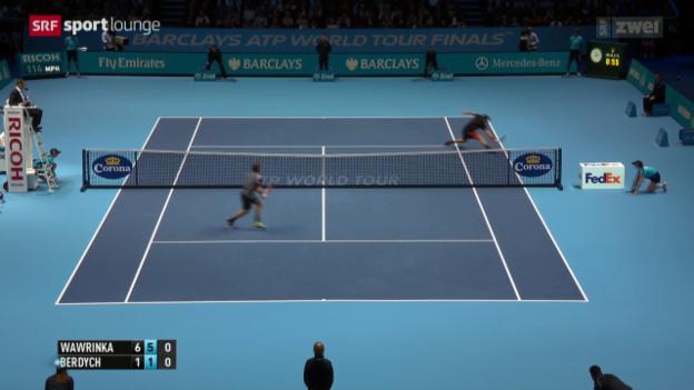 Video «Entfesselter Wawrinka deklassiert Berdych in 58 Minuten» abspielen