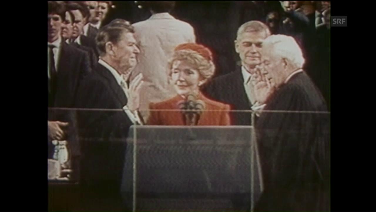 Vereidigung Ronald Reagan (ungeschn. Rohmaterial, 20.1.1981)