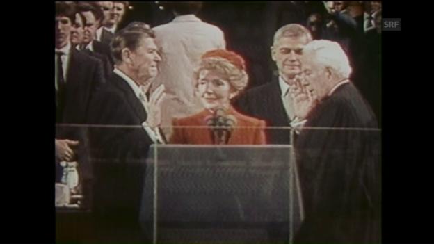 Video «Vereidigung Ronald Reagan (ungeschn. Rohmaterial, 20.1.1981)» abspielen