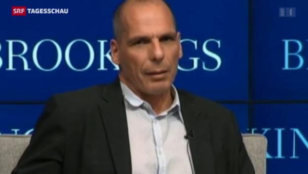 Video «Lagarde lässt Varoufakis abblitzen» abspielen
