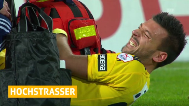Video «Fussball, Super League, Xavier Hochstrasser vom FC Luzern verpasst das Saisonende 2013/14» abspielen