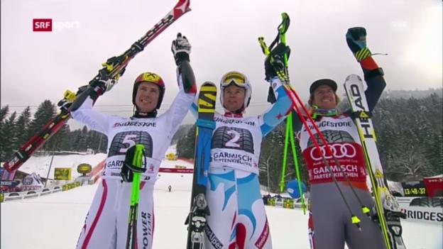 Video «Ski: Riesenslalom Männer in Garmisch («sportpanorama»)» abspielen