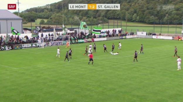 Video «Fussball: Schweizer Cup, Le Mont - St. Gallen» abspielen