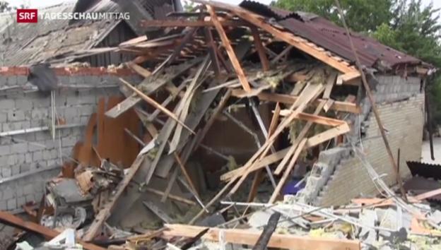 Video «Heftige Auseinandersetzungen in der Ukraine» abspielen