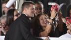 Video «Brad Pitt zurück auf dem roten Teppich» abspielen