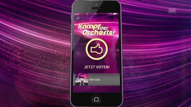 Video «Voting-App von «Kampf der Orchester»: So funktionierts!» abspielen