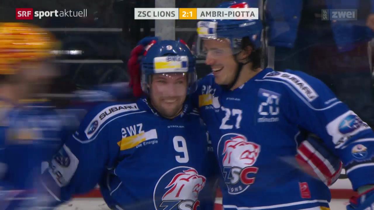 Eishockey: NLA, ZSC Lions - Ambri-Piotta