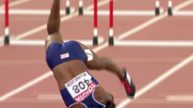 Video «LA-WM: Der Sturz von Hürden-Sprinterin Tiffany Porter» abspielen