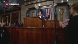 Video «Präsidialer Auftritt Trumps im Kongress» abspielen