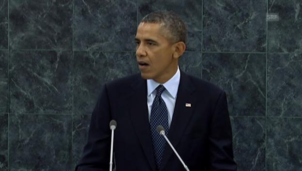 Video «Obamas Rede zu Syrien vor der UNO-Vollversammlung (Englisch)» abspielen