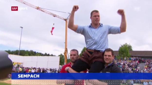 Video «Schwingen: Sempach siegt in Aarwangen» abspielen
