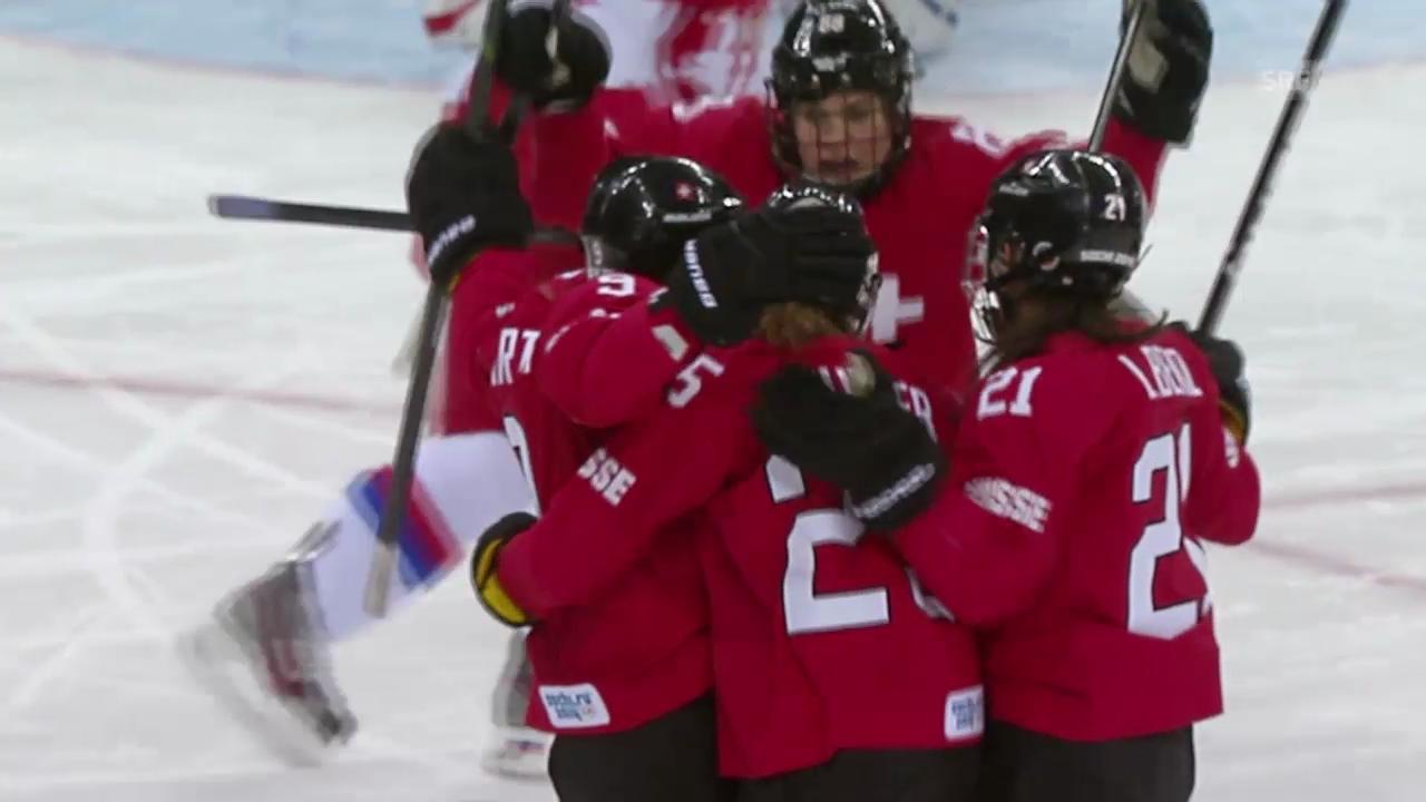 Eishockey Frauen: Schweiz - Russland (sotschi aktuell, 15.02.2014)