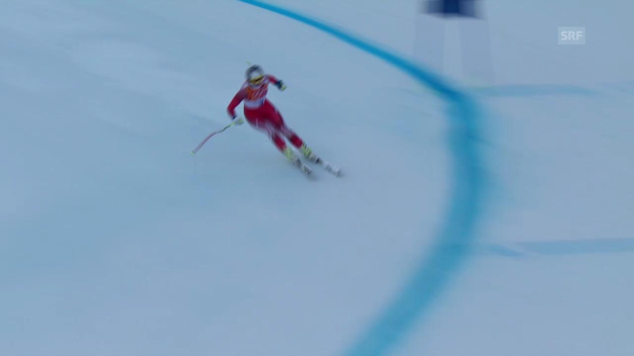 Ski: Kombi-Abfahrt Frauen, Fahrt Marianne Kaufmann-Abderhalden (sotschi direkt, 10.02.2014)