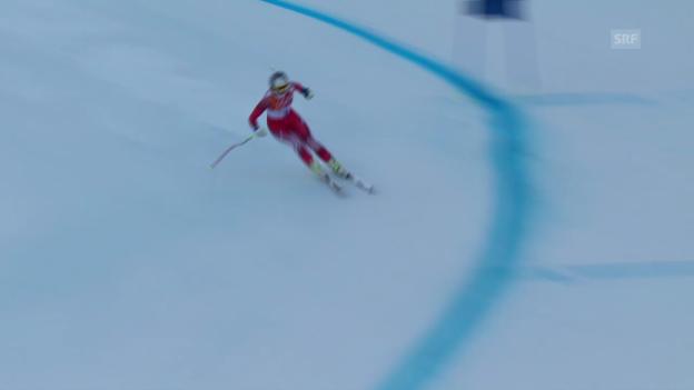 Video «Ski: Kombi-Abfahrt Frauen, Fahrt Marianne Kaufmann-Abderhalden (sotschi direkt, 10.02.2014)» abspielen