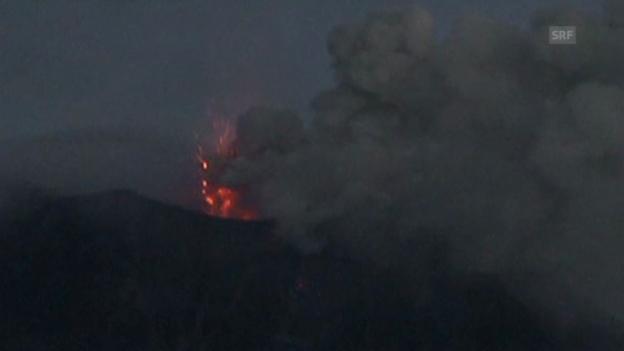 Video «Anden-Vulkan Tungurahua wieder aktiv» abspielen