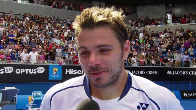 Video «Tennis: Australian Open, Platzinterview Wawrinka» abspielen
