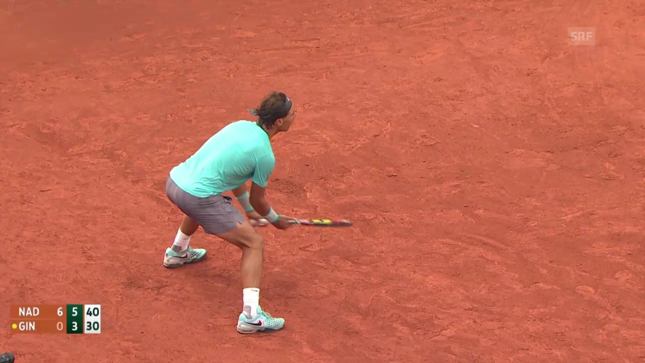 Tennis: French Open, Rafael Nadal - Robby Ginepri