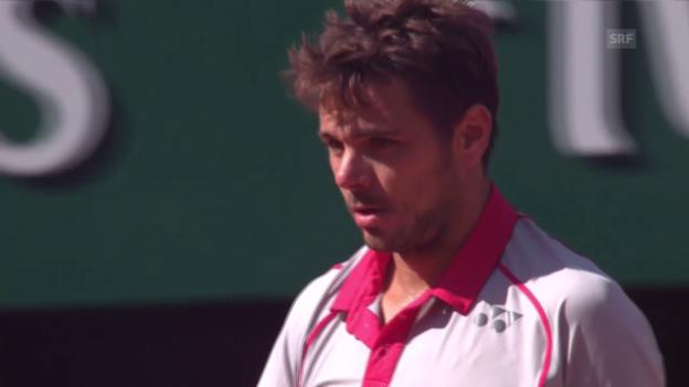 Video «Tennis: Final French Open; Djokovic - Wawrinka, 3. Satz Wawrinka» abspielen