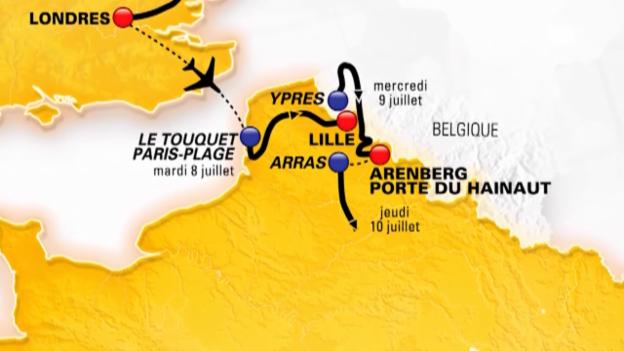 Video «Die Streckenführung der Tour de France 2014 in der Animation» abspielen