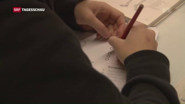 Video «Die Schweizer glänzen in Mathe – Kritik an Test» abspielen