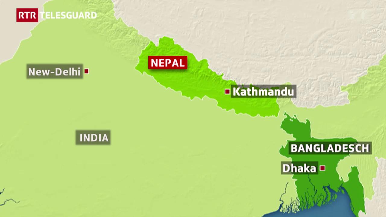 Il grev terratrembel en il Nepal - ed ina gruppa sursilvana ch'è al lieu