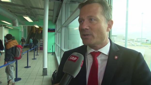 Video «Fussball: Schweizer Nati steckt in London fest» abspielen