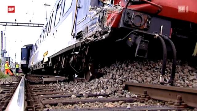 Acht Personen bei Zugunglück im Aargau verletzt