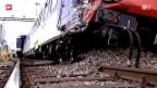 Video «Acht Personen bei Zugunglück im Aargau verletzt» abspielen