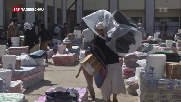Video «Schweizer Hilfe für Hungerleidende in Afrika» abspielen