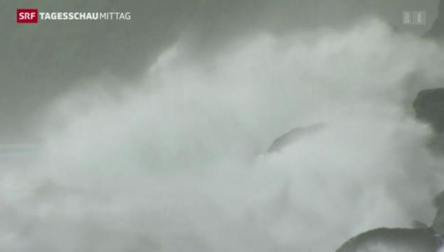 Video «Taifun versetzt Japan in Angst und Schrecken» abspielen