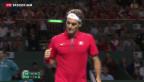 Video «Wawrinka verliert im Davis-Cup gegen Golubew» abspielen