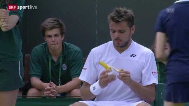 Video «Tennis: Wimbledon, 1. Runde, Wawrinka - Sousa» abspielen
