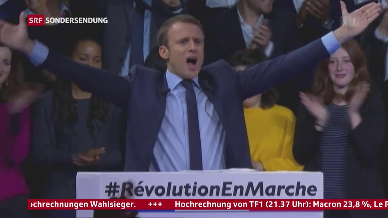 Porträt Emmanuel Macron