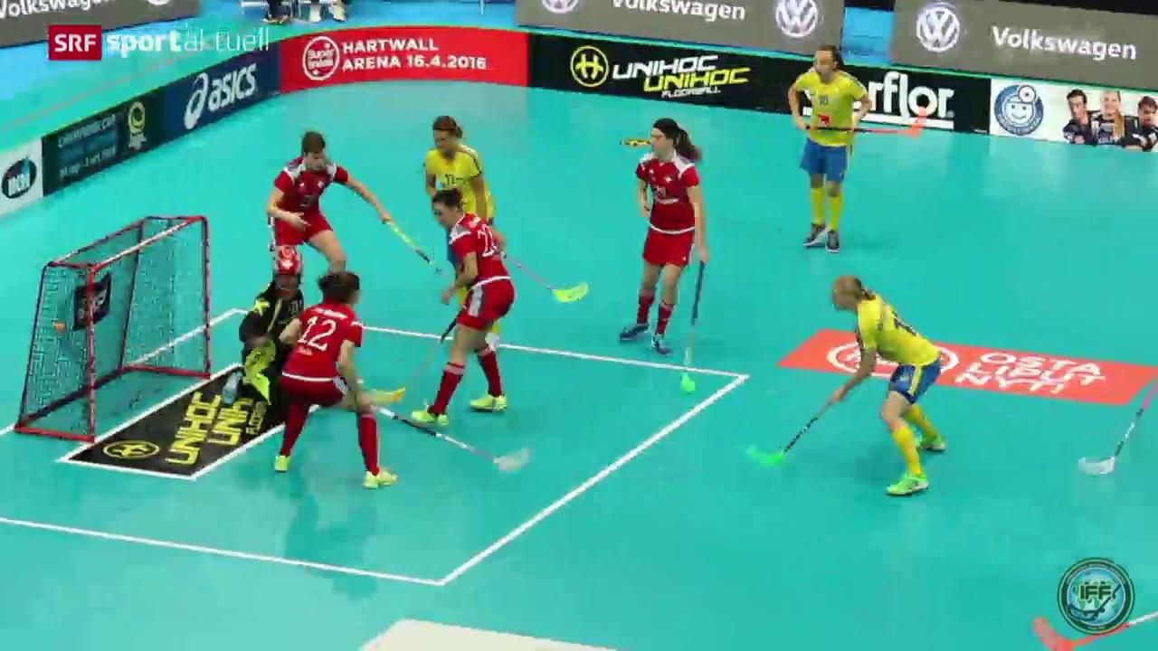 Unihockey: WM-Halbfinal Schweden-Schweiz