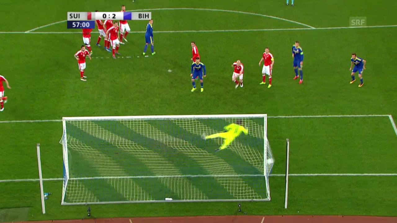 Pjanic schiesst Bosnien 2:0 in Führung - und wie!