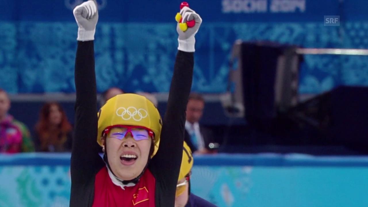 Shorttrack: 1000 Meter Frauen (15.2.2014)